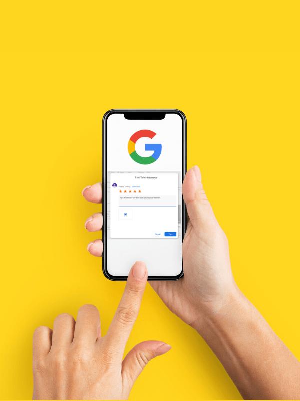 leaving google review